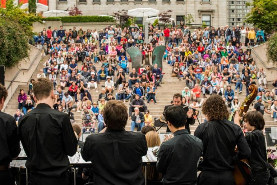 Jazz outside during Vancouver's 2013 International Jazz Festival
